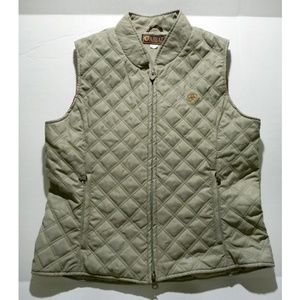 Ariat Green Quilted Vest Riding